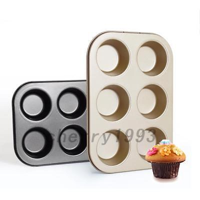 2 PCS 6 Cup Nonstick Cookware DIY Cake Baking Cheese Muffin CupcakeTool Model