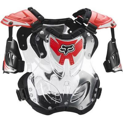NEW Fox Racing R3 Medium Armour Black Red Kids Youth MX Dirtbike Chest Protector