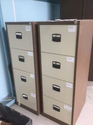 Metal Filing Cabinets (I have 3 in total for sale) 1 with locking key - VGC
