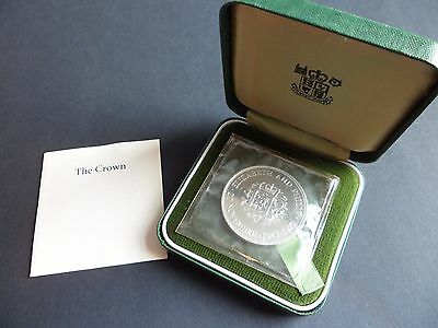 1972 Royal Mint Silver Proof Crown - Queen's Silver Wedding With Full Packaging