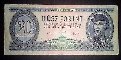 Hungary 1969 circulated banknote 20 forints