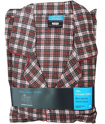 Mens Brushed Cotton Pyjamas Flannel PJS CLEARANCE ONLY £8.99 S to XL