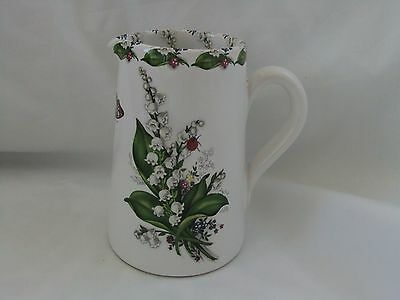Lily of the Valley decorated ceramic jug