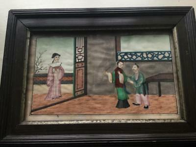 Antique Chinese Watercolour Painting On Rice Paper C. 1850