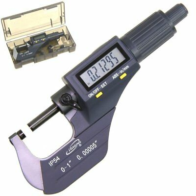 """iGaging Outside Micrometer Digital Electronic 0-1"""" IP54 Protection Large LCD"""
