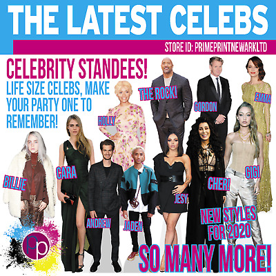 Life Size Celebrity Cardboard Cutouts / Standees Various ones