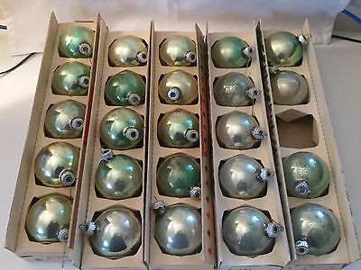 Vintage Shiny Brite Glass Christmas Tree Ornaments Lot Of 24