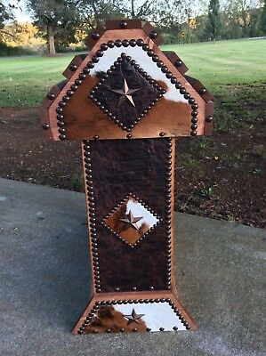 Saddle Stand / Crocodile Leather / Cowhide / Western Decor / Made In Usa