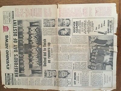 Hereford united newspaper cuttings from 1972/3