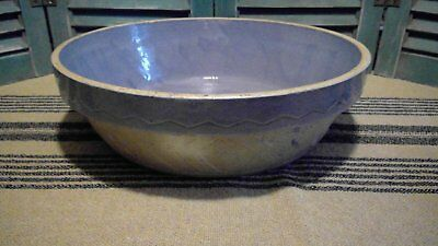 Large Antique Blue Pottery Bowl