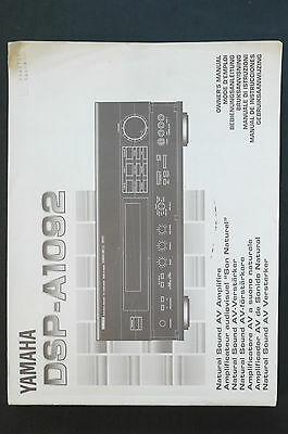 YAMAHA DSP-A1092 AV AMPLIFIER Orig. Bedienungsanleitung/User Manual Top-Zust.!