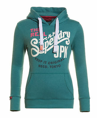 New Womens Superdry Keep It Tri Colouren Canyon Teal Snowy