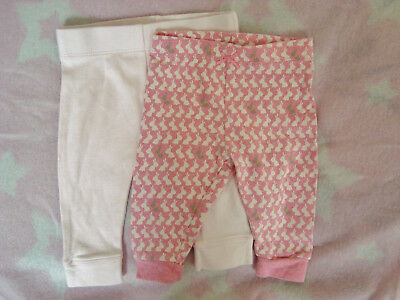 Baby girls set of 2 pink trousers 0-3 months