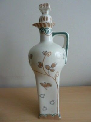 Dutch Gouda Delft Bottle And Cover Must See