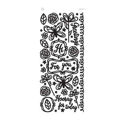 NEW Dazzles Stickers - Scribble Shapes-Black, Clear Foil