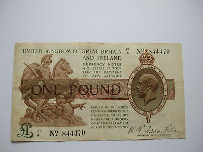 One Pound Treasury Note -  Fair+ condition-z1 4