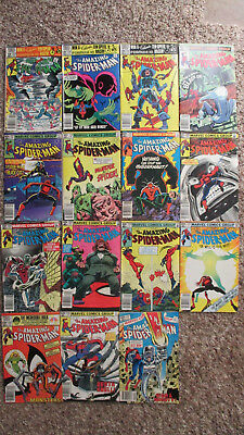 Lot of 15 Bronze Age Amazing Spider-Man Comic Books All Good Condition