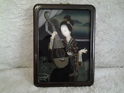 Antique Chinese reverse painting on glass RARE