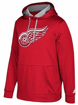 """Detroit Red Wings Adidas NHL Men's """"Checking"""" Pullover Hooded Sweatshirt"""