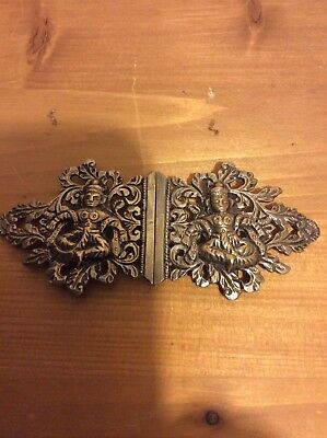 Ornate Indian Silver Buckle