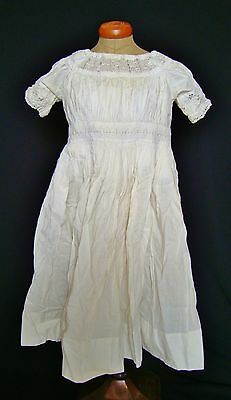 ANTIQUE Victorian Embroidered Whitework Baby Gown Dress~Christening Doll Museum