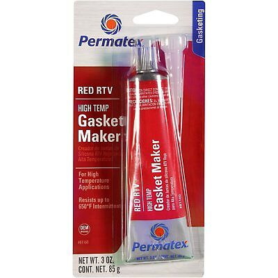Permatex 81160 High-Temp Red RTV Silicone Gasket 85g
