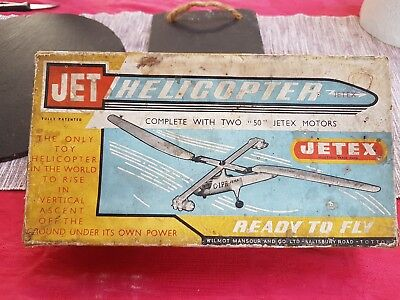 jetex .jet helicopter .with two jetex engines