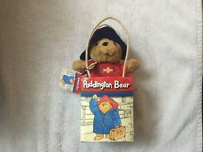 """Paddington Bear Soft Toy Plush Approx 5-6"""" Tall With Original Tags In Bag *Cute*"""