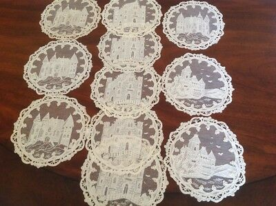 11 Stunning Needle Lace Castle Cocktail Napkins