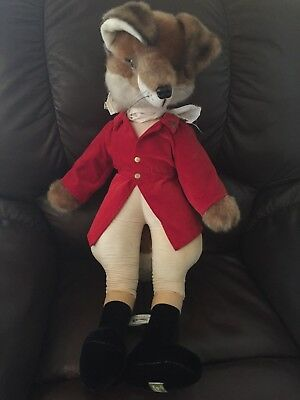 "Very Rare Vintage Harrods Jumbo 29"" Merrythought Hunting Fox Red Coat"