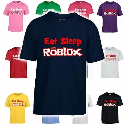 EAT SLEEP ROBLOX (D1) T-Shirt for Kids - Online Gaming wii xbox ps4