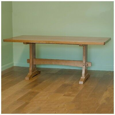Colin 'Beaverman' Almack [Ex-Mouseman] Oak Rectangular Dining Table