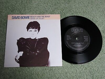 DAVID BOWIE Beauty and the beast Ireland RCA 7-inch Lifetimes Solid centre BOW 5