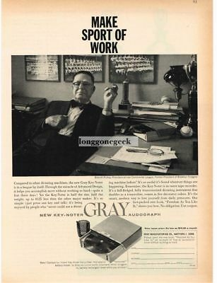 1959 AUDOGRAPH Dictation Machine BRANCH RICKEY Continental League Vtg Print Ad
