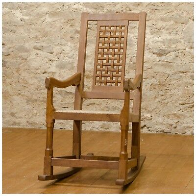 Peter 'Rabbitman' Heap Yorkshire School Oak Rocking Chair