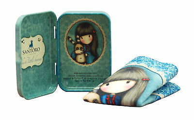 Santoro Gorjuss - Tin Can with Microfiber Cloth - Hush Little Bunny
