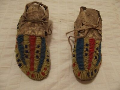 14. Sioux Childs Full Beaded Moccasins. Circa 1890S.