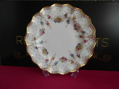 """Royal Crown Derby 2nd Quality Antoinette 10"""" Dinner Plate XXXVIII 1975"""