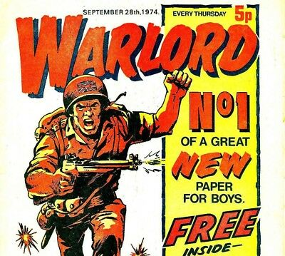 WARLORD - Vintage UK Army & War Comics on 2 DVD set with reading software