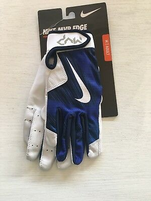 Nike MVP EDGE Blue AND WHITE BATTING GLOVES NIKE BASEBALL GLOVES MEN'S Medium