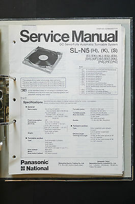TECHNICS SL-N5  Original Plattenspieler/Turntable Service-Manual/Schaltplan!