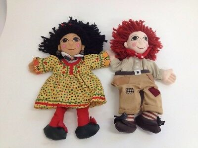 """Rosie and Jim Hand Puppets 14"""" Canal Narrow Boat Rag Dolls  (Box 22_533)"""