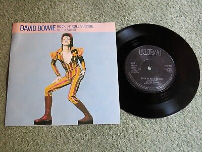 DAVID BOWIE rock 'n' roll suicide Ireland RCA 7-inch Lifetimes Solid centre BOW