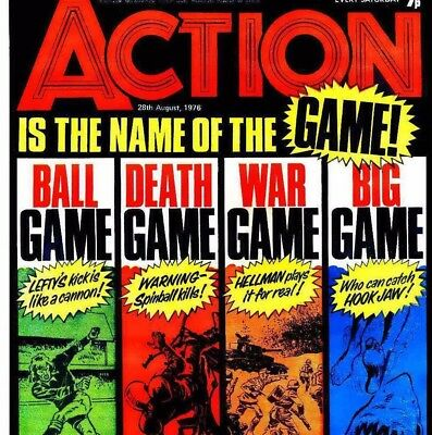 ACTION - Vintage UK Action Comics on DVD with reading software