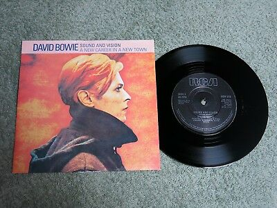DAVID BOWIE Sound and Vision Ireland RCA 7-inch Lifetimes Solid centre BOW 510!