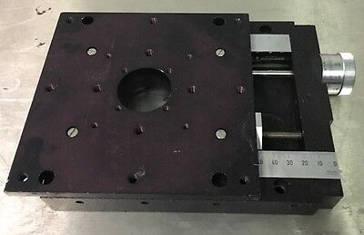 50mm Linear Stage , .005mm Resolution , 6 1/4 X 6 1/4 Stage Plate