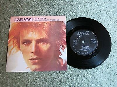 DAVID BOWIE Space oddity Ireland RCA 7-inch Lifetimes Solid centre BOW 518!