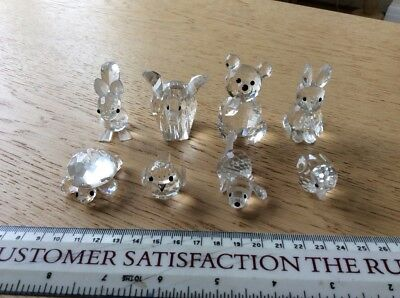 8 Swarovski Crystal Glass Animals