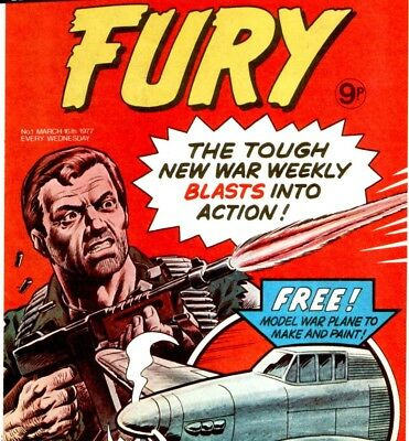 FURY, WAR & AIR ACE PICTURE LIBRARY - Vintage UK War Comics on DVD