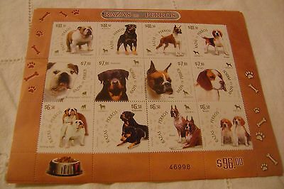 Mexico=Scott # 2567-Dogs-Sheet-Mnh-